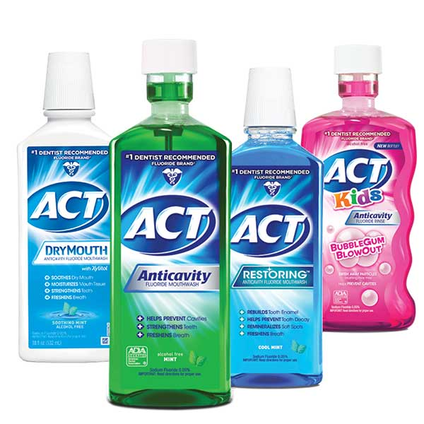 ACT Anticavity Fluoride Rinses and Mouthwashes