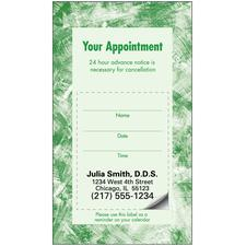 Sticker Appointment Card, 500/Pkg - 3-D Tooth, 3-1/2